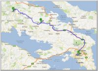 Route Athens Gravia GR